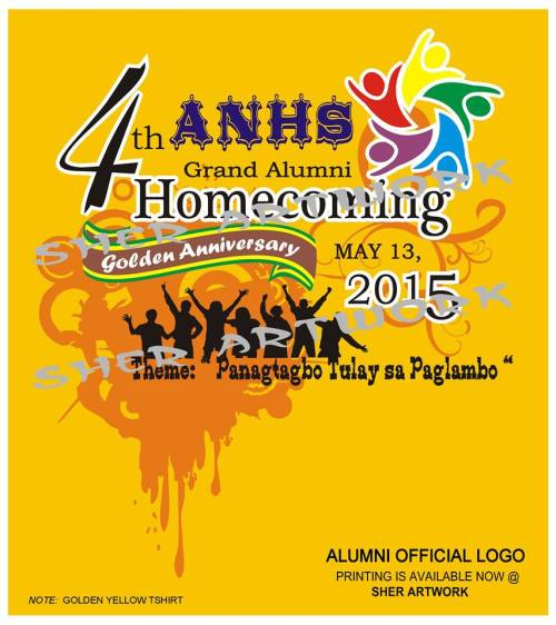 4th alumni 2015 t-shirt