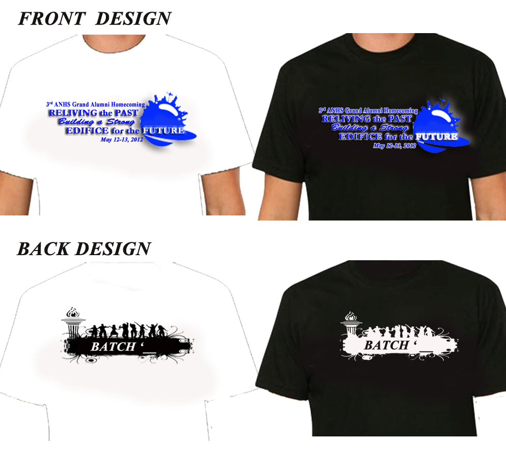 the 3rd anhs alumni homecoming t shirt design black